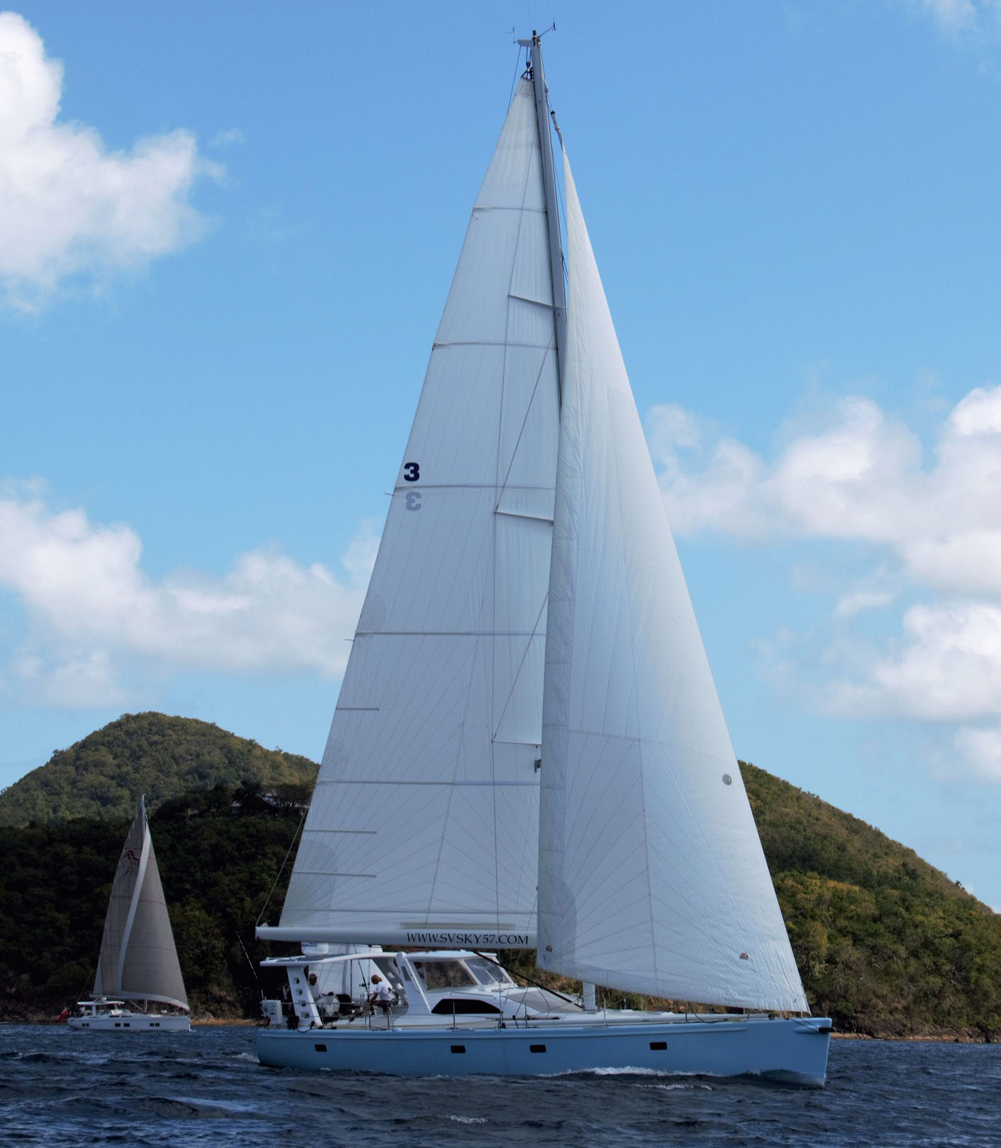 Sailing Staboard View